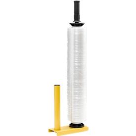 Stahlabroller für Handstretchfolie, gelb