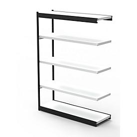 Stahlregal PROGRESS 2000, Regalfeld, ohne Rückwand, H 1900 x B 1000 x T 300 mm, Rahmen schwarz