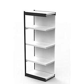 Stahlregal PROGRESS 2000, Regalfeld, Rückwand, H 1900 x B 750 x T 300 mm, Rahmen schwarz