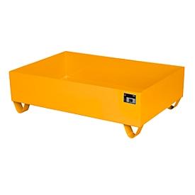 Stalen lekbak zonder rooster, 1200 x 800 mm, oranje RAL 2000