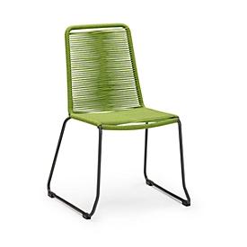 Stapelfauteuil Symi, retro-look, bespanning in fishbone-look, groen
