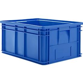 Stapelkasten Serie 14/6-1, aus PP, mit Griffmulde, Inhalt 71 L, blau