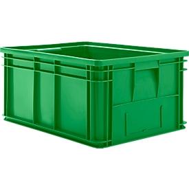Stapelkasten Serie 14/6-1, aus PP, mit Griffmulde, Inhalt 71 L, grün