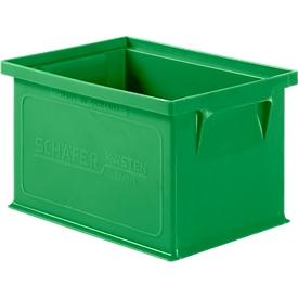 Stapelkasten Serie 14/6-4, aus Polypropylen, mit Griffmulde, Inhalt 2,5 L, grün