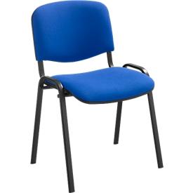 Stapelstoel ISO Basic, onderstel zwart, blauw
