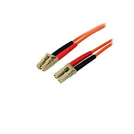 StarTech.com 15m Fiber Optic Cable - Multimode Duplex 50/125 - LSZH - LC/LC - OM2 - LC to LC Fiber Patch Cable - Netzwerkkabel - 15 m - orange