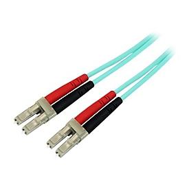 StarTech.com 15m OM3 LC to LC Multimode Duplex Fiber Optic Patch Cable - Aqua - 50/125 - LSZH Fiber Optic Cable - 10Gb (A50FBLCLC15) - Patch-Kabel - 15 m - Aquamarin