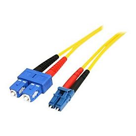 StarTech.com 1m Fiber Optic Cable - Single-Mode Duplex 9/125 - LSZH - LC/SC - OS1 - LC to SC Fiber Patch Cable (SMFIBLCSC1) - Netzwerkkabel - 1 m