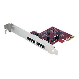 StarTech.com 2 Port eSATA 6 Gbit/s PCI Express Schnittstellenkarte - SATA III PCIe Controller Karte - Speicher-Controller - eSATA 6Gb/s - PCIe
