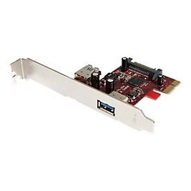 StarTech.com 2 Port USB 3.0 SuperSpeed PCI Express Schnittstellenkarte mit UASP Unterstützung - PCIe USB 3 Karte 1 intern/ 1 extern - USB-Adapter - PCIe 2.0 - 2 Anschlüsse