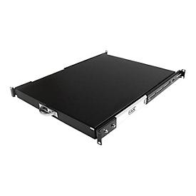 StarTech.com Ausziehbarer Fachboden für 19 Serverschrank - 55cm Sliding Rack Shelf belastbar bis 25 Kg - Stahlblech Schwarz Rack Keyboard Shelf
