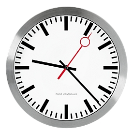 Stationsklok 'cirkelwijzer', radiografische klok