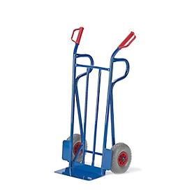 Steekwagen van stalen buizen, draagvermogen 250 kg, luchtbanden