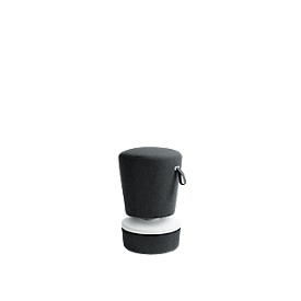 Steh-/Sitzhocker NICK, höhenverstellbar 570 - 900 mm, anthrazit