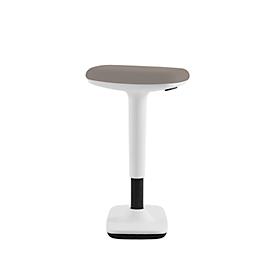 Steh-/ Sitzhocker Nowy Styl Timmi, Polyurethanschaum- Polster, Anti-Rutsch, Höhenverstellung, H 515-745 mm, weiß/grau meliert