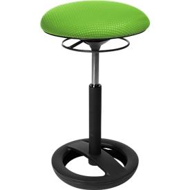 Stehhilfe Sitness HIGH BOB, ergonomisches Sitzen, Sitzhöhe 490 bis 700 mm, apfelgrün, Gestell schwarz pulverbeschichtet