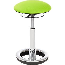 Stehhilfe Sitness HIGH BOB, ergonomisches Sitzen, Sitzhöhe 490 bis 700 mm, apfelgrün, Gestell verchromt