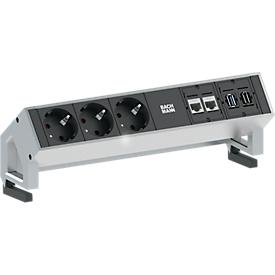 Stekkerdoos Desk 2, CAT6, USB, HDMI,, aluminium