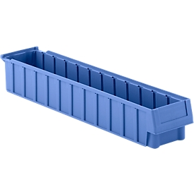 Stellingbak RK 619-01, polypropeen, L 620 x B 116 x H 90 mm, 12 vakken, voor kastdiepte 600 mm, blauw