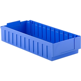 Stellingbak RK 621B, 12 vakken, polystyreen, B 243 x D 590 x H 115 mm, voor kastdiepte 500 mm, blauw