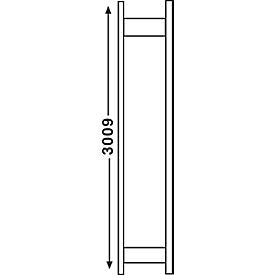 Stellingsysteem R 3000, frame, H 2967 x D 300 mm