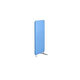 Stellwand Stoff, B 800 x H 1600 mm, hellblau