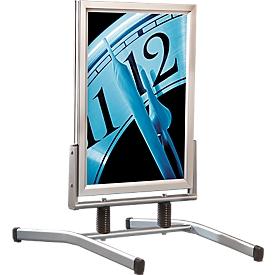 Stoepbord SwingMaster uit aluminium geëloxeerd, weerbestendig, voor A1-formaat (594 x 841 mm)