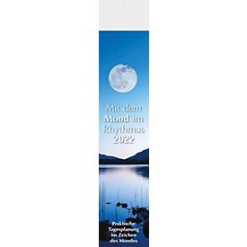 Streifenkalender Mond, B 110 x H 480 mm, Werbedruck 100 x 100 mm, Auswahl Werbeanbringung erforderlich