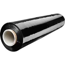 Stretchfolie,, 20 mµ, 500 mm x 300 m, zwart, 6 rollen