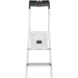 Stufen-Stehleiter Hailo L60, EN 131, mit Multifunktionsschale & Gelenkschutz, bis 150 kg, 3 Stufen