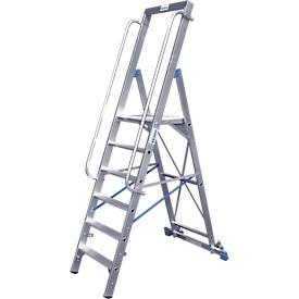 Stufenstehleiter, mit großer Plattform, Aluminium, mit 4 Stufe