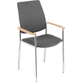 Stuhl Zen, anthrazit/Buche natur