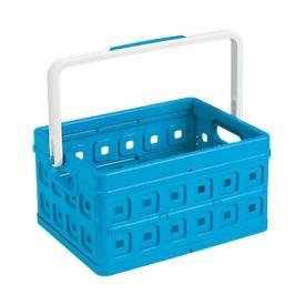 Sunware vouwkrat Square, L 435 x B 310 x H 213mm, 24 liter, met handgreep, blauw/wit