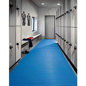 Supergrip PVC mat Soft, 600 mm breed, blauw