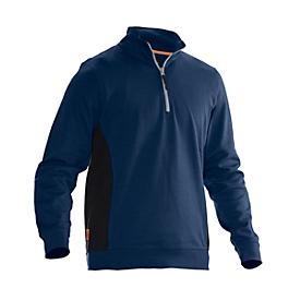 Sweatshirt 1/2 Zip Jobman 5401 PRACTICAL, met UV-bescherming, donkerblauw I zwart, L