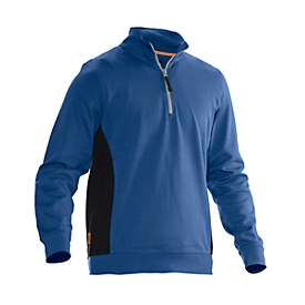 Sweatshirt 1/2 Zip Jobman 5401 PRACTICAL, mit UV-Schutz, blau I schwarz, 3XL