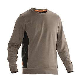 Sweatshirt Jobman 5402 PRACTICAL, met UV-bescherming, kaki/zwart, 3XL