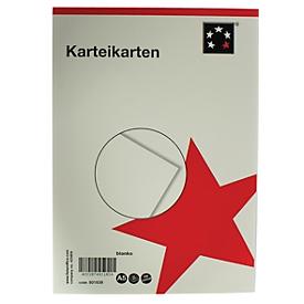 Systeemkaarten blanco, A5, 210 x 247 mm, pak van 100