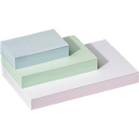 Systeemkaarten, gelinieerd, papier, 100 stuks, wit, A7