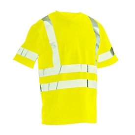 T-Shirt Jobman 5582 PRACTICAL Spun Dye Hi-Vis, EN ISO 20471 Klasse 2/3, PSA 2, gelb, Größe L