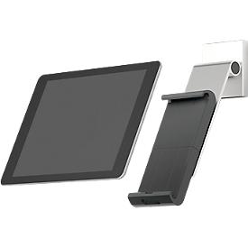 Tablet muurbevestiging DURABLE WALL PRO, voor 7-13″, 360° draaibaar, met kantelhoek, antidiefstalbeveiliging