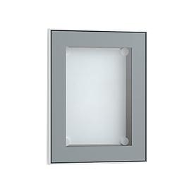Tablón de anuncios expositor, color aluminio anodizado, 328 x 415mm