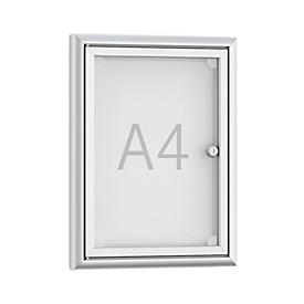 Tablón de anuncios plano Softline BSK1, marco de aluminio, 1 x DIN A4, An 284 x Al 374mm