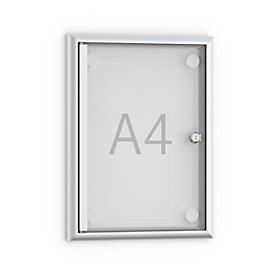 Tablón de anuncios plano Softline MSK1, puerta sin marco, 1 x DIN A4