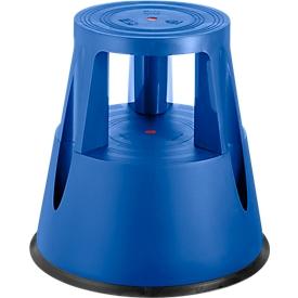 Taburete con ruedas, azul