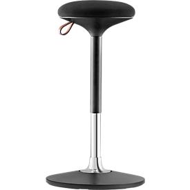 Taburete de pie/sentado S 300, regulable en altura, junta de movimiento multidimensional, altura del asiento 590-850 mm, negro