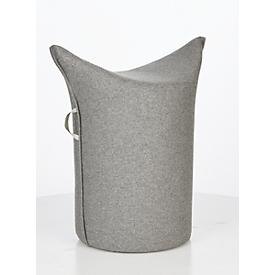 Taburete WERTHER, fieltro de lana, difícilmente inflamable, altura del asiento 500mm, lazo de sujeción, gris claro