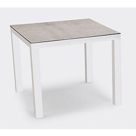 Tafel Houston, aluminium, rechthoekig, B 900 x D 900 mm, wit