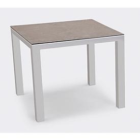 Tafel Houston, aluminium, rechthoekig, B 900 x D 900 mm, zilver