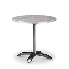 Tafel Maestro, rond, inklapbaar, Ø 900 mm, antraciet/beton